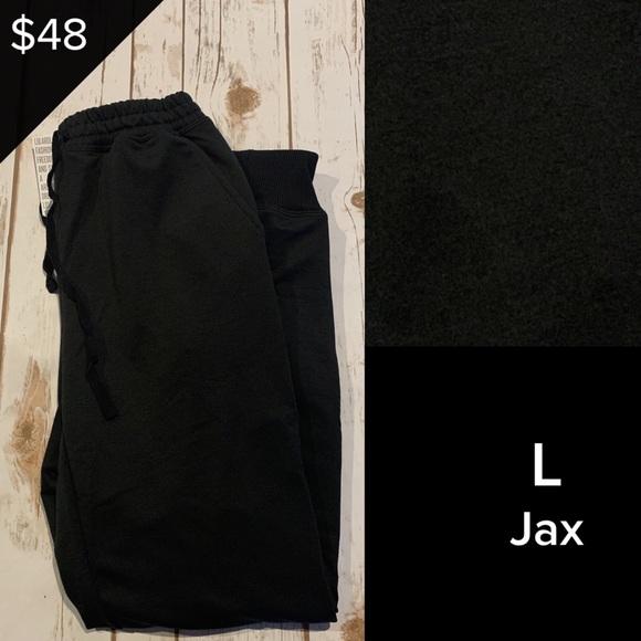 Lularoe Pants Jumpsuits Lularoe Jax Pants In Solid Black And Large Poshmark